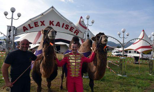 Alex Kaiser und Clown Bartelino