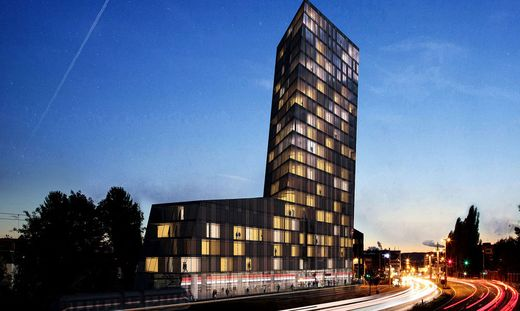 So ähnlich soll der A2Z Business Tower aussehen.