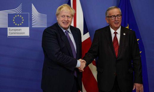 Der britische Premier Boris Johnson und EU-Kommissionspräsident Jean-Claude Juncker