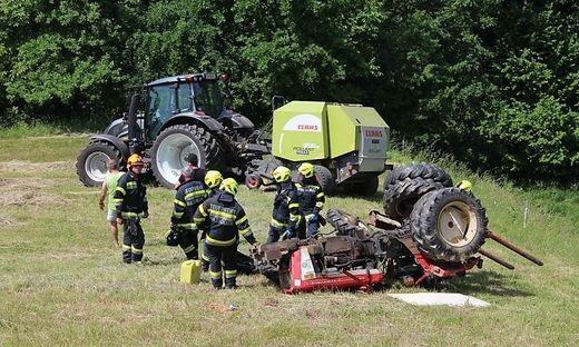 Traktorunfall in Maltschach