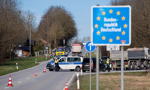Coronavirus - Grenzkontrolle zu Bayern