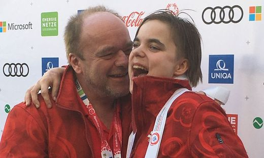 Special-Olympionikin Sarah Schmölzer mit Vater Franz
