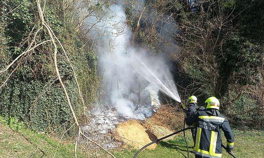 Dank des raschen Eingreifens der Feuerwehrleute wurde Schlimmeres verhindert