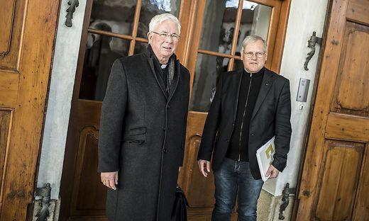 Erzbischof Lackner, Kanzler Ibounig (zum Beginn der Visitation im Jänner)