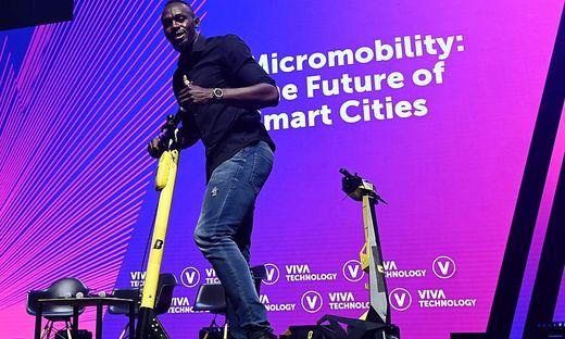 Auch Usain Bolt ist in das Pariser E-Scooter-Geschäft eingestiegen