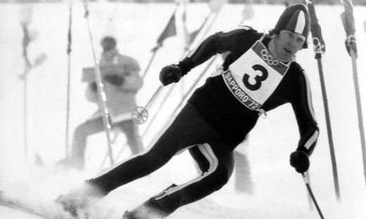 Olympische Winterspiele in Sapporo Ski Alpin Slalom der M�nner Roland Th�ni Italien