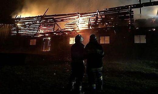 70 Feuerwehrleute standen beim Brand im Einsatz