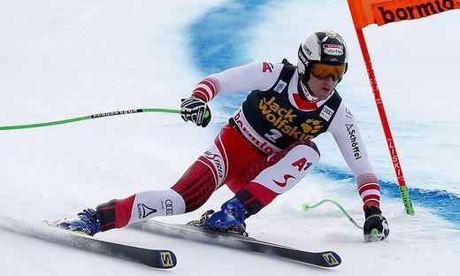 Hannes Reichelt verletzte sich bei der Samstag-Abfahrt in Bormio