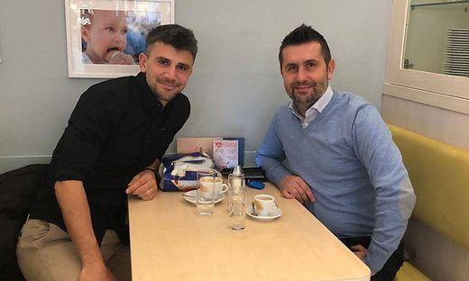 Mihret Topcagic mit Zagreb-Coach Nenad Bjelica (re.)
