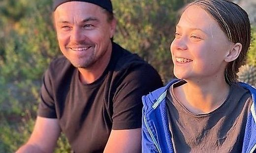 Hollywoodstar Leonardo DiCaprio und Greta Thunberg