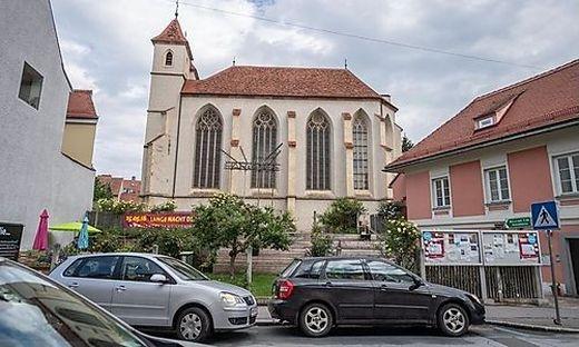 Die griechisch orthodoxe Gemeinde feiert ihre Messe in der Leechkirche im Grazer Uni-Viertel.