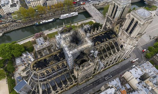 Die Kathedrale am 16. April 2019