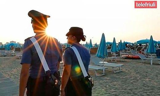 Die Strandpolizei wurde bei dem jungen Mann fündig