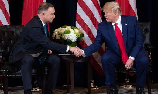 Polen - Polens Präsident Duda wird im Weißen Haus von Trump empfangen