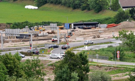 Kreuzung Trautenfels Bauarbeiten