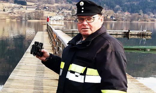 Heinz Kohlmaier rettete durch sein rasches Handeln am Ossiacher See einem Fischer das Leben