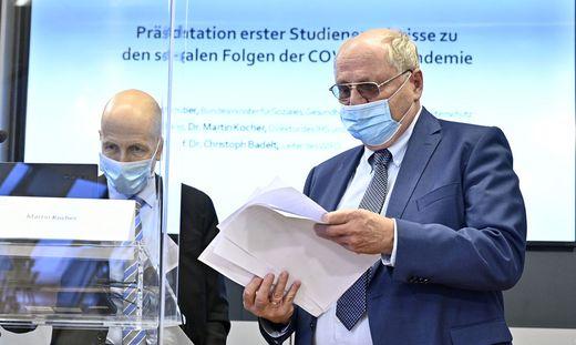 IHS-Chef Martin Kocher und Wifo-Boss Christoph Badelt