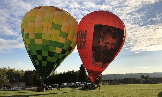 Dutzende Ballonfahrer tummeln sich dieser Tage am Boden und in der Luft in der Oststeiermark