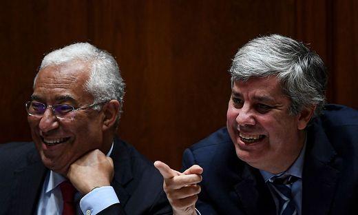 Ministerpräsident António Costa  und Finanzminister und Euro-Gruppen-Chef Mário Centeno
