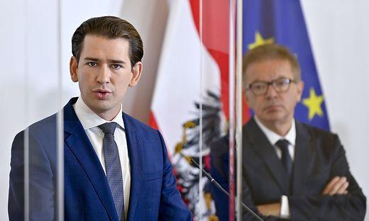 Kanzler Kurz (links) und Gesundheitsminister Rudolf Anschober