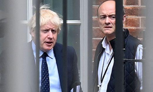 Boris Johnson mit seinem ehemaligen Chefberater Dominic Cummings