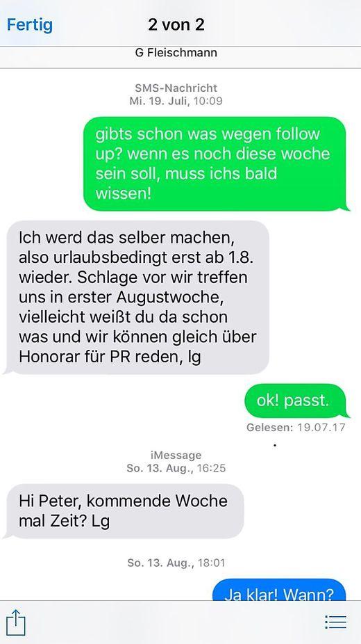 SMS Verkehr