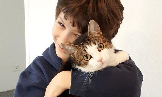 Der neunjährige Florian Striessnig kann seine Daisy wieder in die Arme schließen