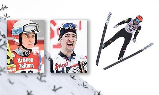 Skispringerin Sophie Sorschag (links) und Kombinierer Thomas Jöbstl sind bereit für die WM