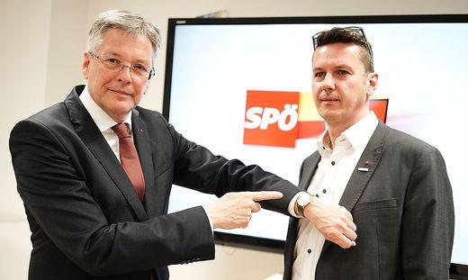 SPÖ-Chef Peter Kaiser und Daniel Fellner stellen der ÖVP das Ultimatum bis 20 Uhr