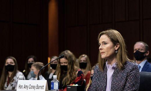 Amy Coney Barrettt während ihrer Anhörung im US-Senat in Washington
