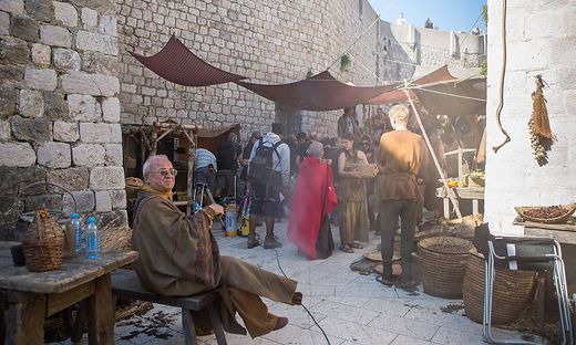 Game of Thrones filming Dubrovnik Croatia 26 09 2014 Dubrovnik Croatia In the old city of Du