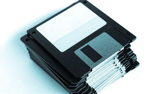 Die 3,5 Zoll Floppy Disk war in den 1980er- und 1990er-Jahren am weitesten verbreitet