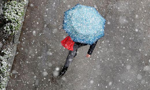 Ein Regenschirm kann nicht schaden.