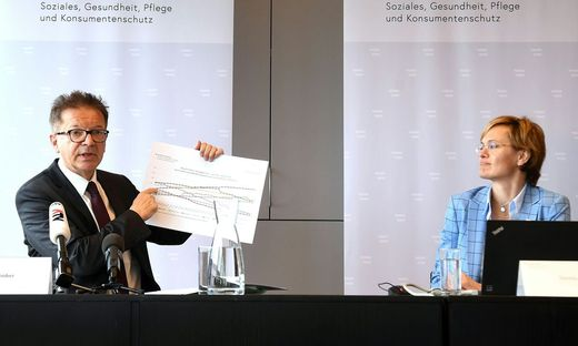 Rudolf Anschober und Daniela Schmid präsentierten die Ergebnisse
