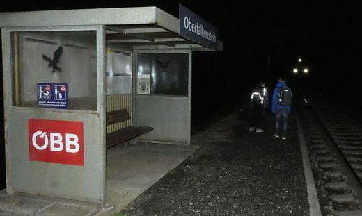 Zughaltestelle Oberfalkenstein in Obervellach