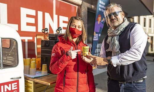 """""""Du hast es selbst in der Hand""""-Aktion der Kleinen Zeitung in Villach"""
