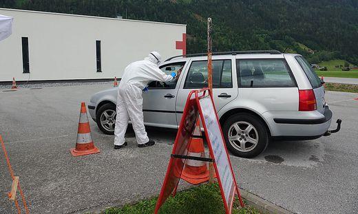 Neue Teststrasze fuer Corona-Verdachtsfaelle in Liezen