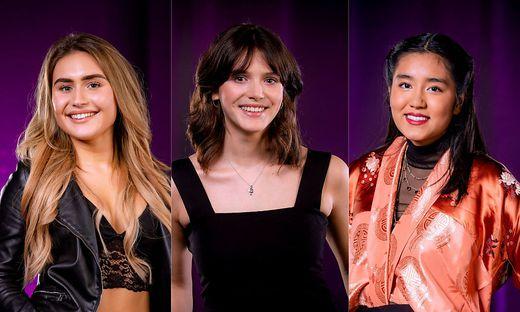 Stephanie Madrian, Charlène Bousseau und Tina Tenzin Wangmo Gi