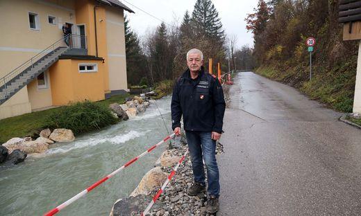 Karl Thomasser ist Gemeinde-Feuerwehrkommandant in Finkenstein