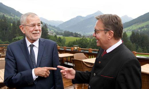 Alexander Van der Bellen mit Tirols Landeshauptmann Günther Platter