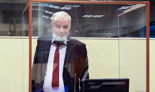 Ratko Mladic vor dem Strafgericht in Den Haag (2020)
