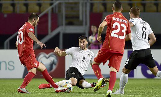 FUSSBALL UEFA EM-QUALIFIKATION: NORDMAZEDONIEN - OeSTERREICH