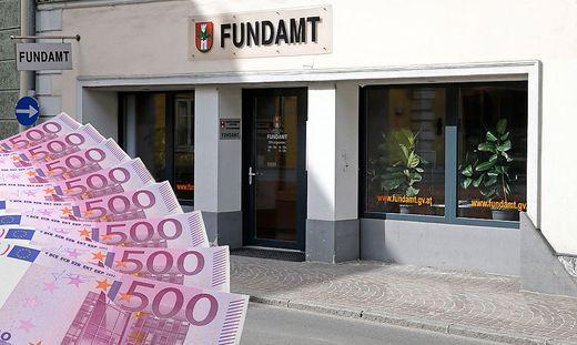 Fotomontage: Ein hoher Geldbetrag wartet im Fundamt auf seinen Besitzer.
