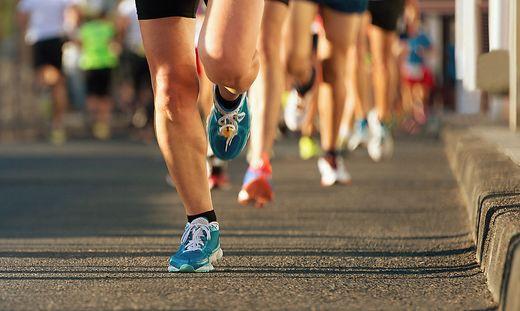 Läufer beim Marathon