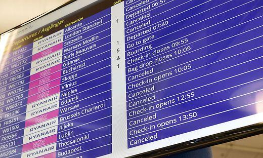 Hunderte Flüge der Ryanair fallen aus