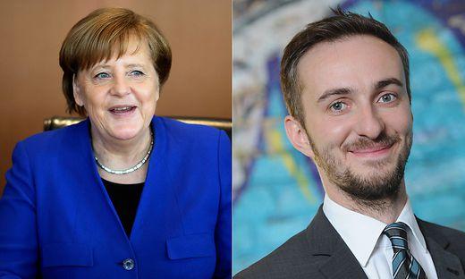 Angela Merkel und Jan Böhmermann