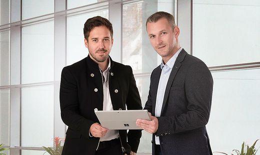 Die Eigentümer und Geschäftsführer der ConSys GmbH Michael Polesnig und Patrick Mosinz
