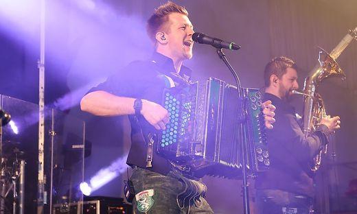 ´Granaten´-Musiker David Traumüller in der Kirschenhalle in Hitzendorf