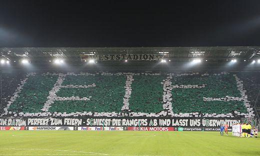 """Die """"1312""""-Choreo vom Rapid-Spiel gegen Glasgow"""