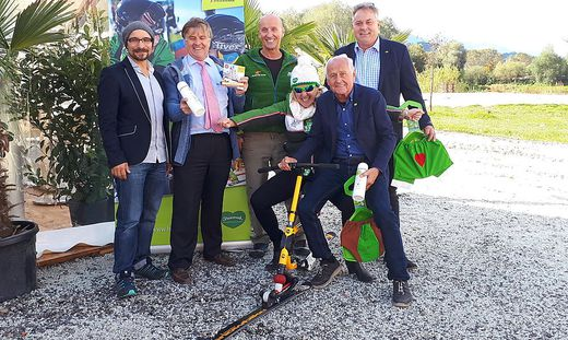 Steiner, Flasch, Puswald, Flatscher, Detschmann und Obermayer (von links)